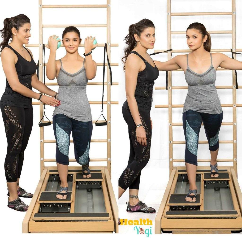 Alia Bhatt doing a workout at gym HD Photo