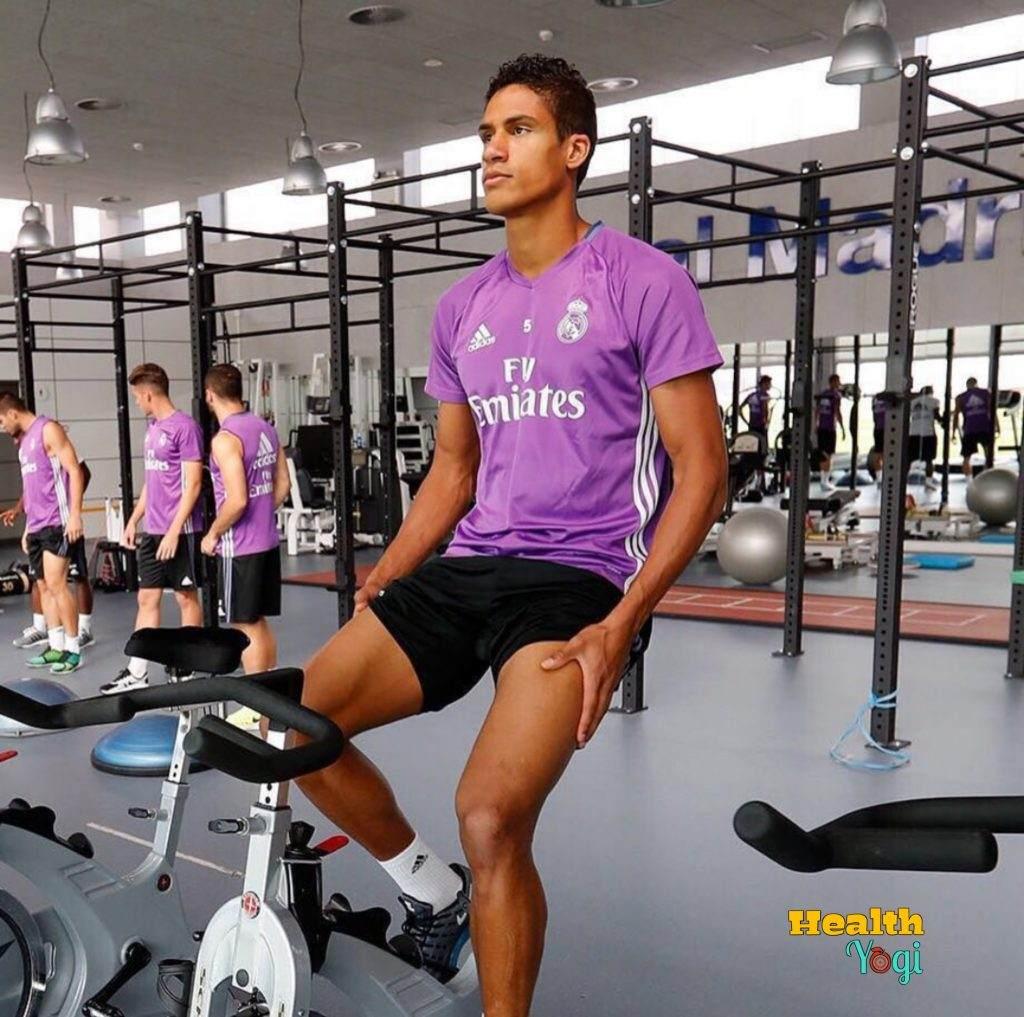 Raphael Varane workout at gym