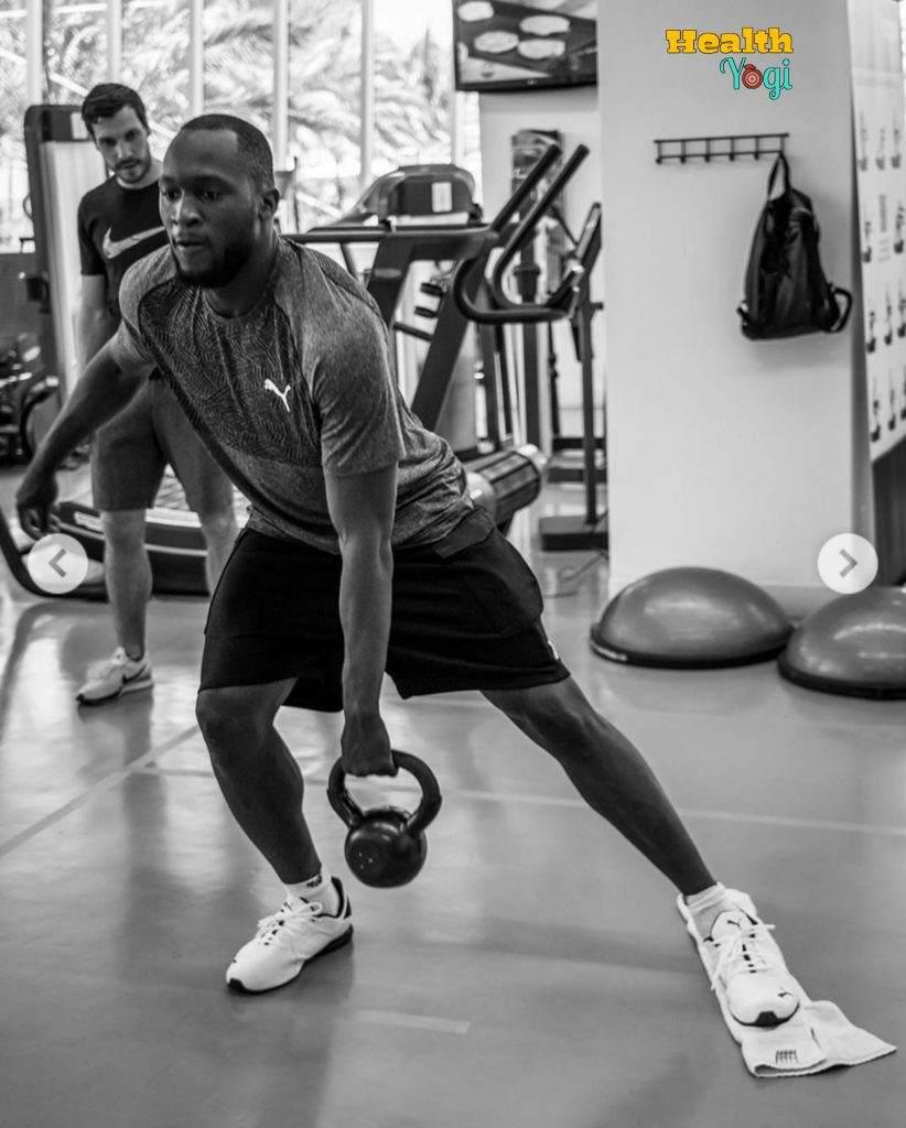 Romelu Lukaku doing Workout at gym