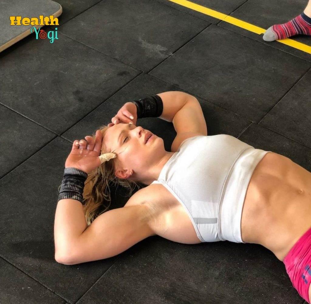 Annie Mist Thorisdottir is doing rest after Hard Workout Instagram Photo