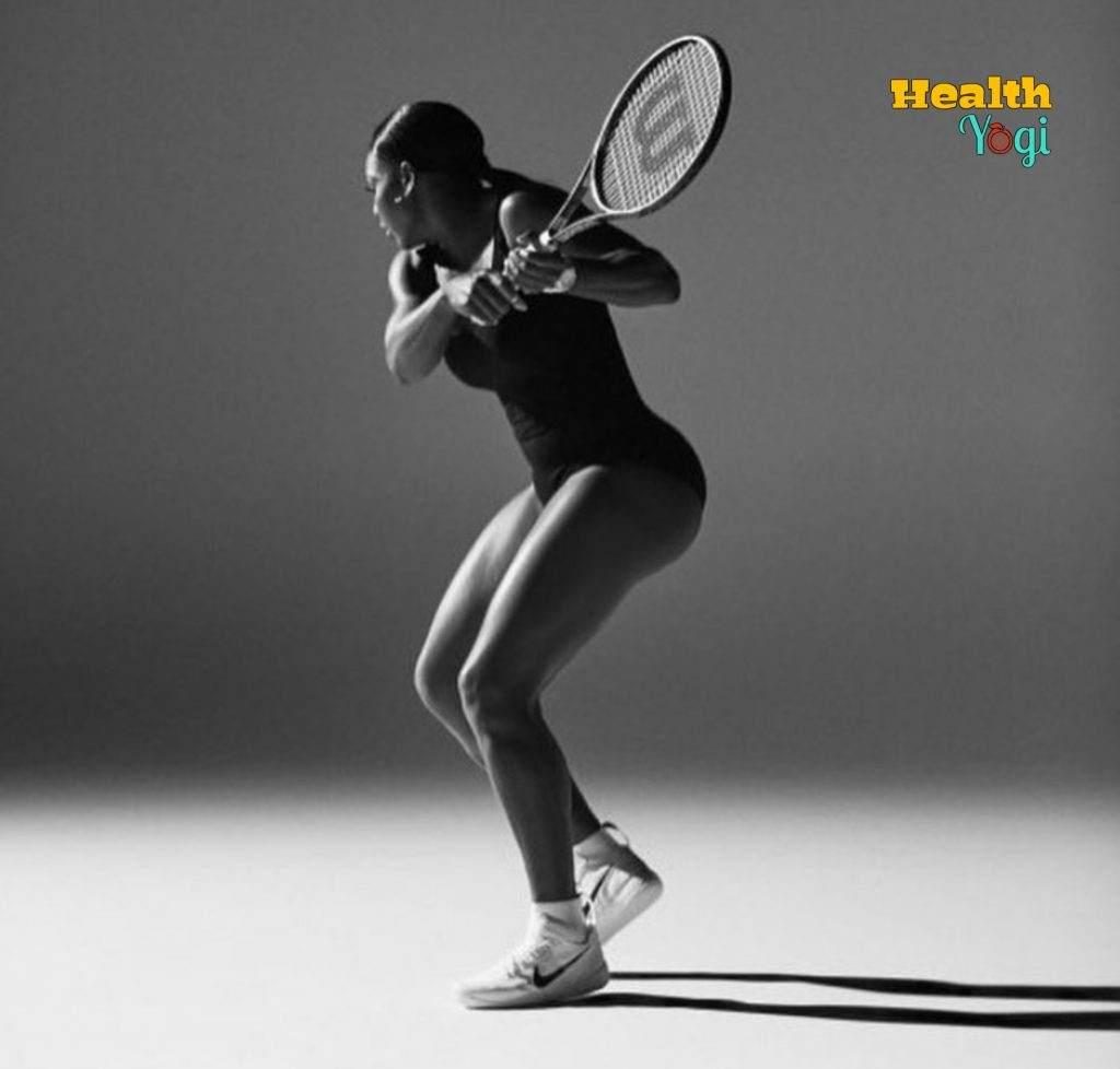Serena Williams training