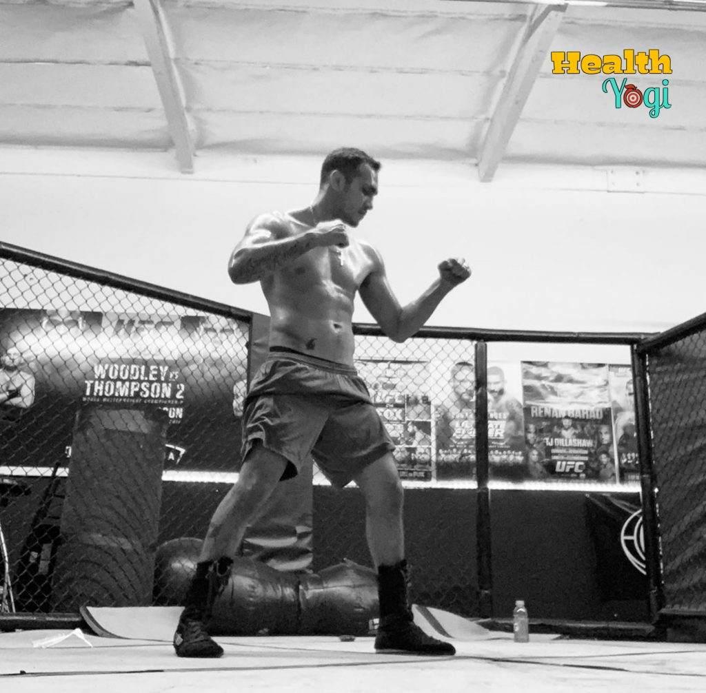Tony Ferguson training