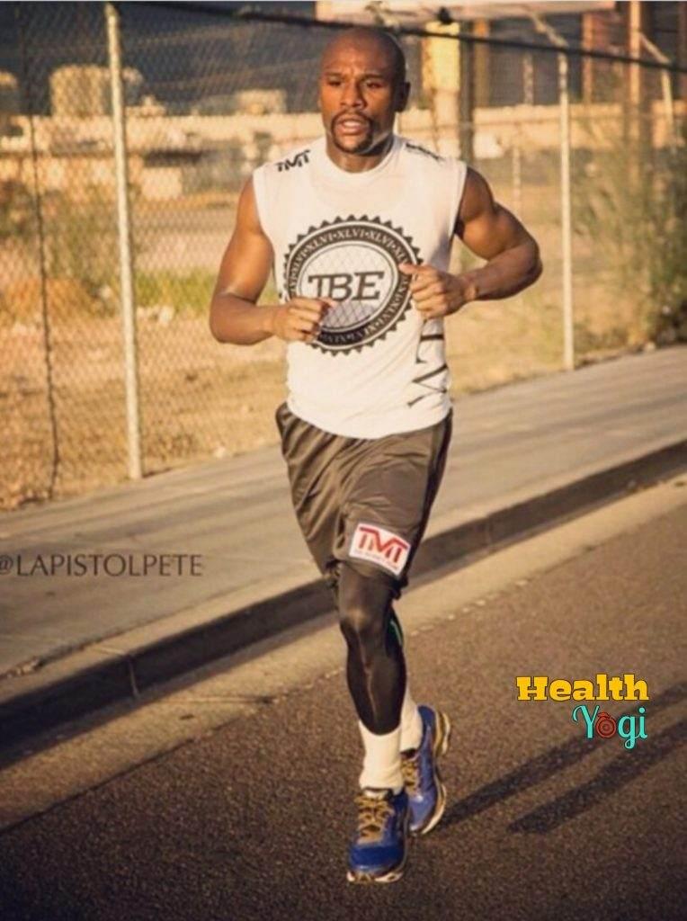 Floyd Mayweather running
