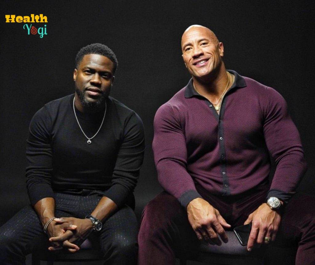 Kevin Hart is with The Rock Dwayne Johnson