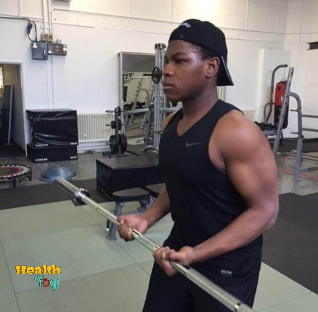 John Boyega biceps workout
