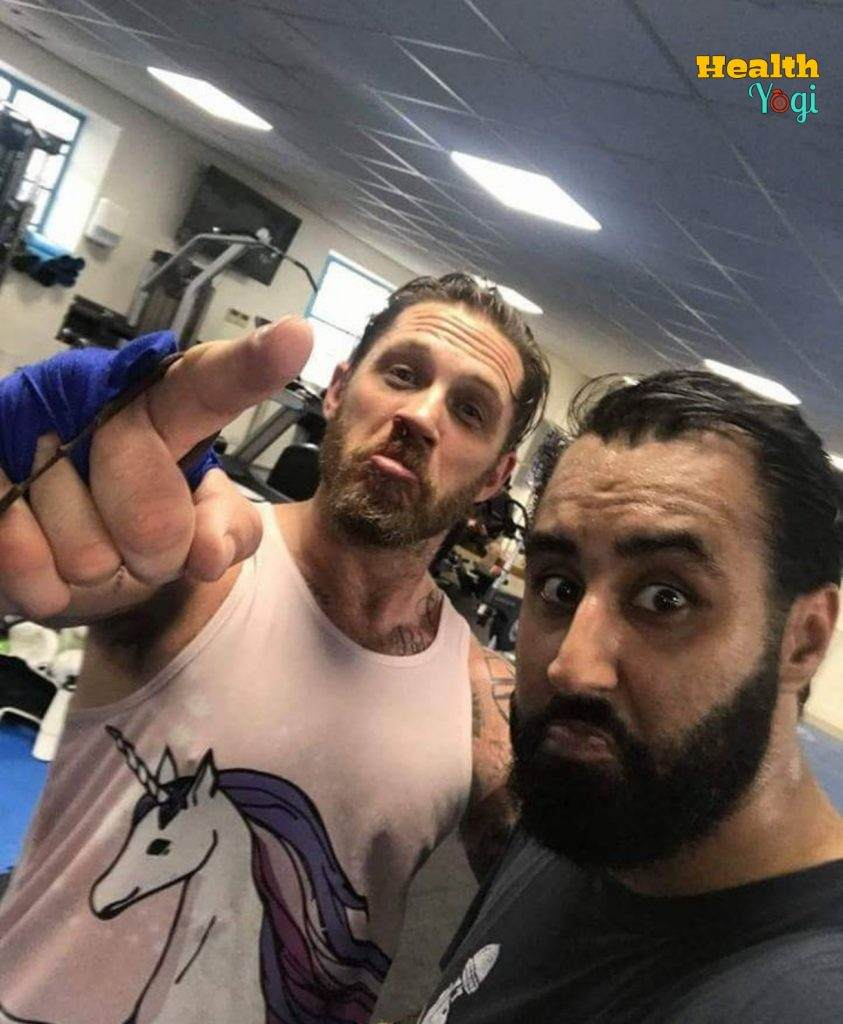 Tom Hardy at Gym