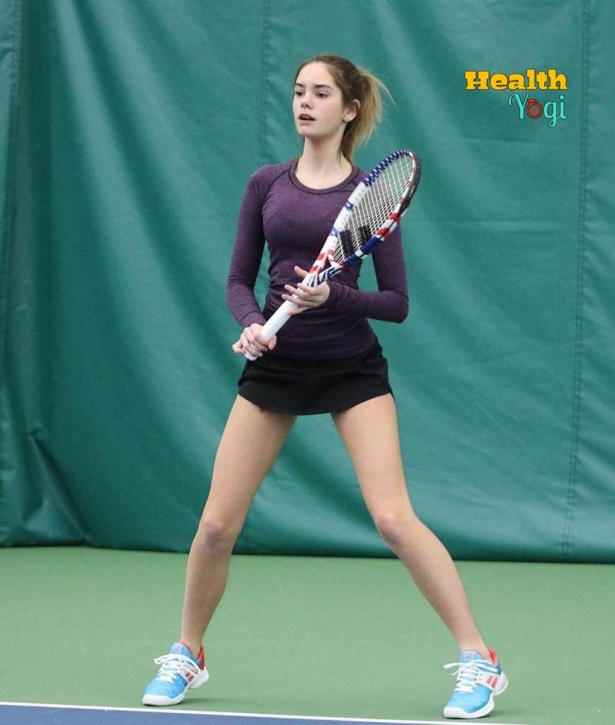 Beautiful Makenzie Raine playing tennis