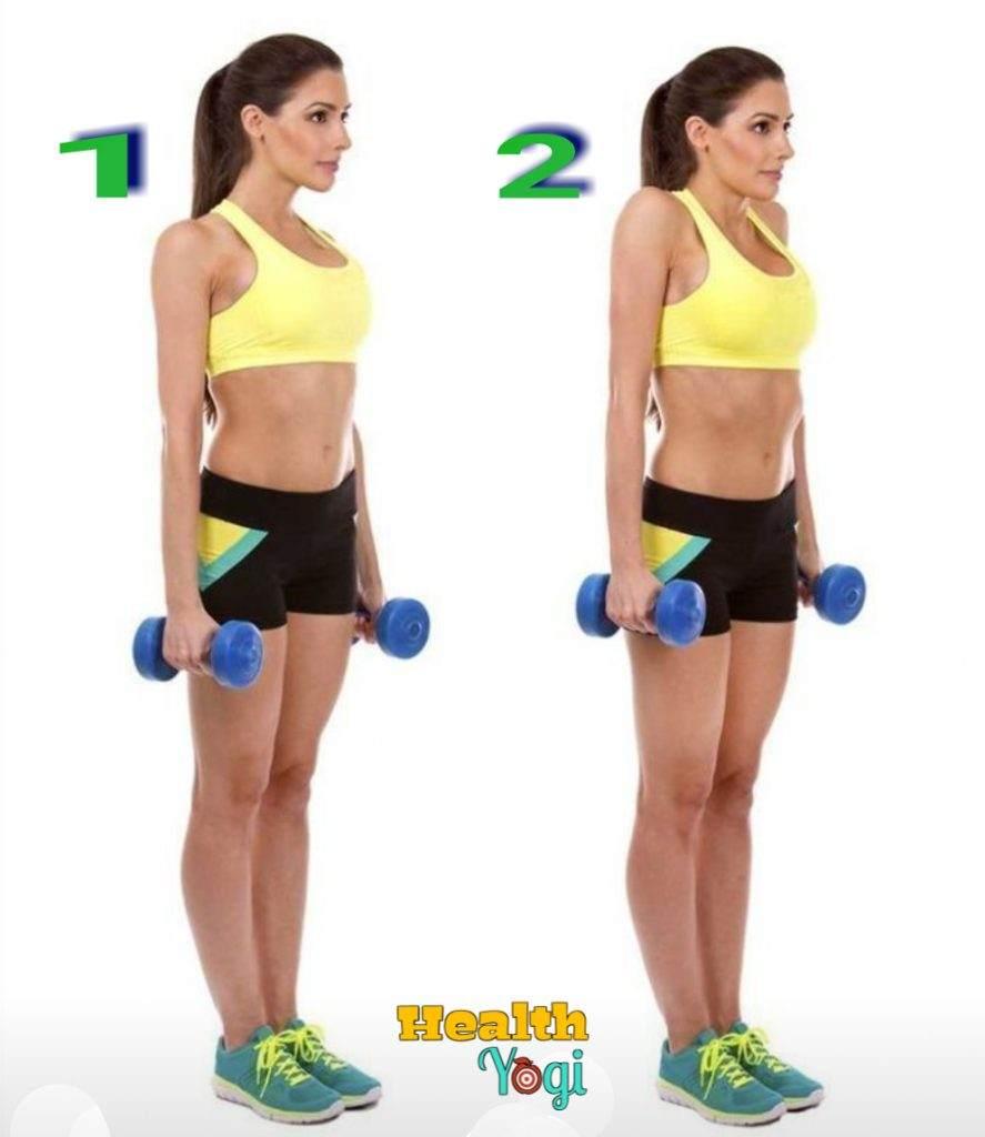 Dumbbells Shrug for back workout