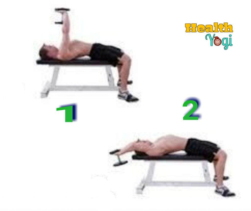 Lat Pullover workout with Dumbbells
