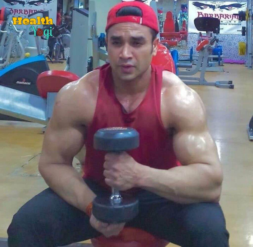 Sachin Atulkar Exercise at gym
