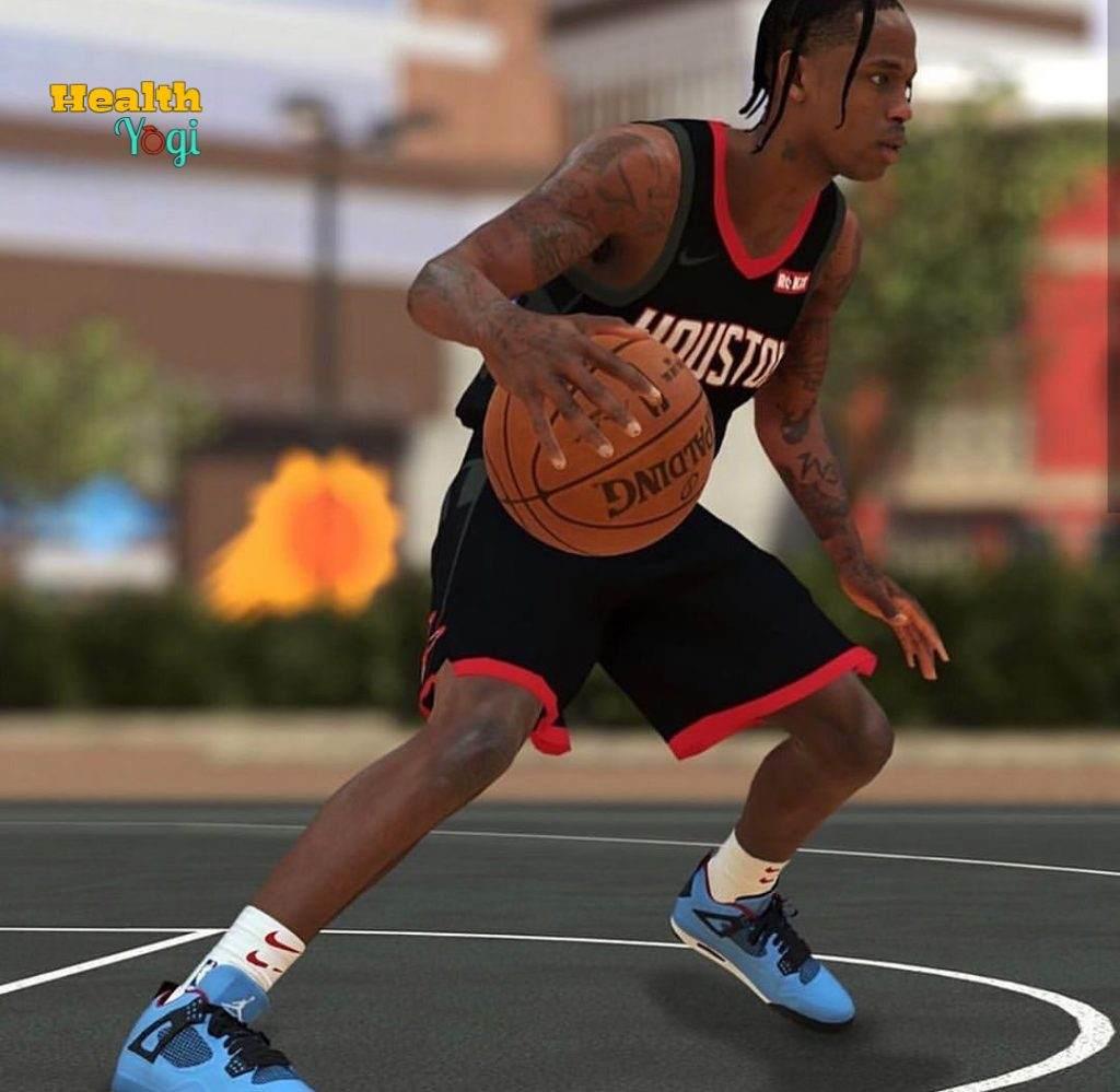 Travis Scott Playing Basketball