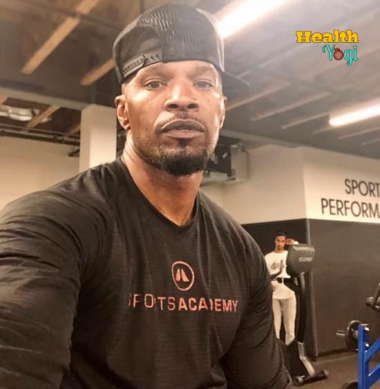 Jamie Foxx at gym