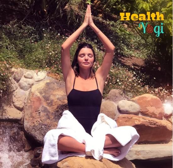 Miranda May Kerr Yoga Exercise